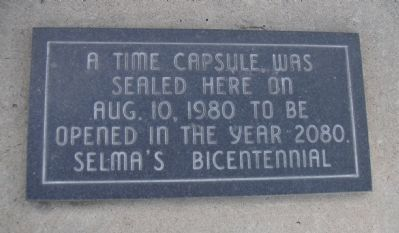 Selma Time Capsule image. Click for full size.