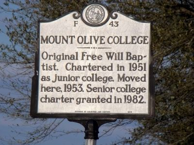 Mount Olive College Marker image. Click for full size.