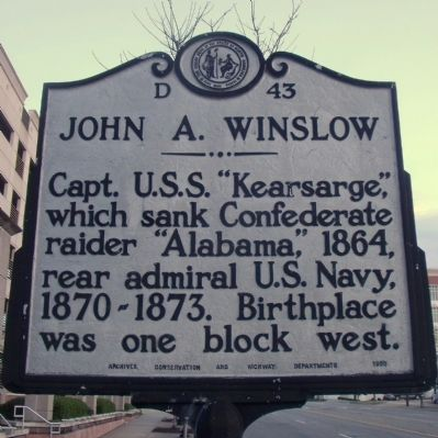 John A. Winslow Marker Photo, Click for full size