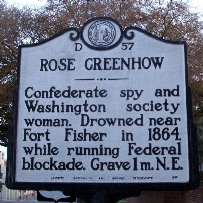 Rose Greenhow Marker image. Click for full size.