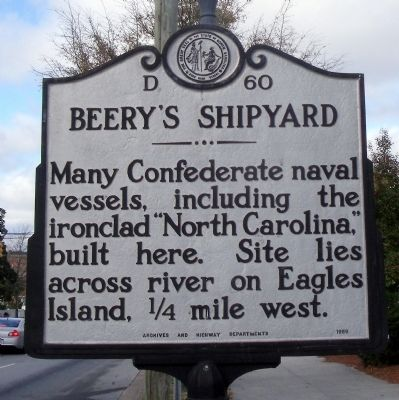 Beery's Shipyard Marker image. Click for full size.
