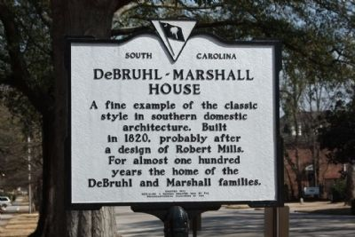 DeBruhl-Marshall House Marker image. Click for full size.