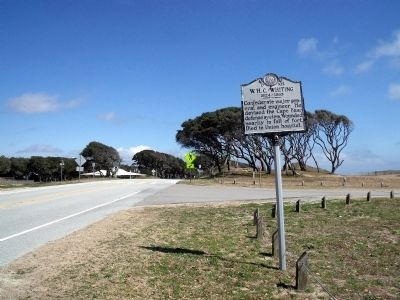 W.H.C. Whiting Marker (facing north) image. Click for full size.
