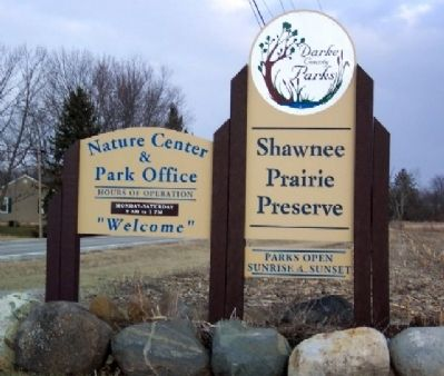 Shawnee Prairie Preserve Sign on Ohio Route 502 image. Click for full size.