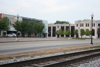 The Railroad Passing Through Downtown Alexander City image. Click for full size.