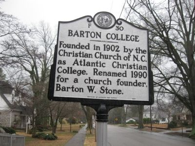 Barton College Marker image. Click for full size.