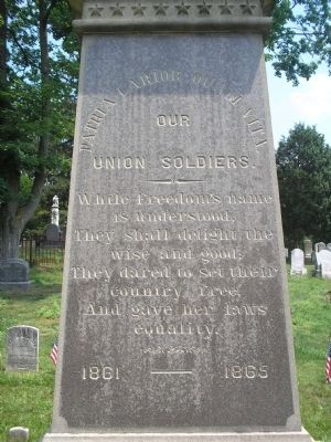 Our Union Soldiers Marker image. Click for full size.