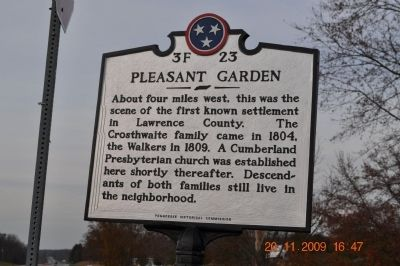 Pleasant Garden Marker image. Click for full size.
