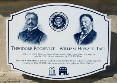 Theodore Roosevelt / William Howard Taft Marker image. Click for full size.