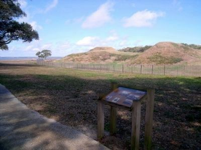 Interior view of Fort Fisher (facing northwest) image. Click for full size.