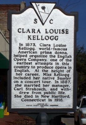Clara Louise Kellogg Marker, reverse side image. Click for full size.