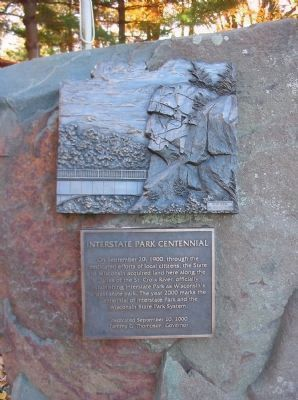 Interstate Park Centennial Marker Photo, Click for full size
