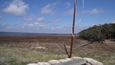 View of Cape Fear River from Shepherd's Battery. image. Click for full size.