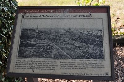 View Toward Batteries Robinett and Williams Marker image. Click for full size.