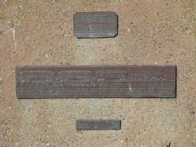 The 1st Transcontinental Railroad Marker Photo, Click for full size