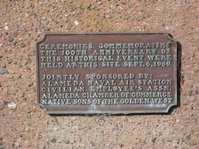 The 1st Transcontinental Railroad Small Upper Plaque Photo, Click for full size