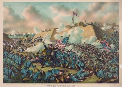 Capture of Fort Fisher image. Click for full size.