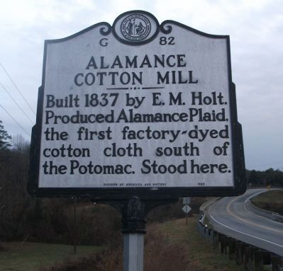 Alamance Cotton Mill Marker Photo, Click for full size