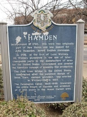 Hamden Marker image. Click for full size.