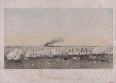 Bombardment of Fort Fisher image. Click for full size.