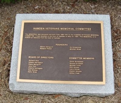 Dedicated Plaque image. Click for full size.