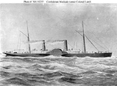 Steamship <i>Colonel Lamb</i> (Blockade Runner, 1864) image. Click for full size.