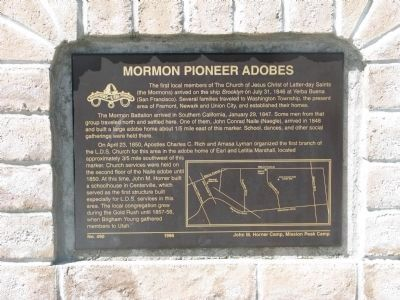 Mormon Pioneer Adobes Marker image. Click for full size.