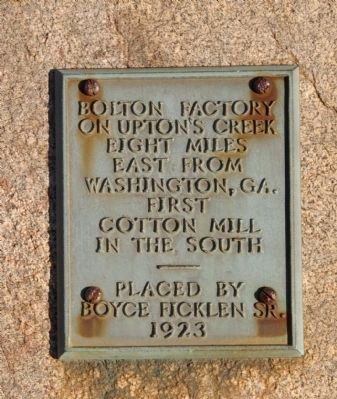 Bolton Factory Marker image. Click for full size.