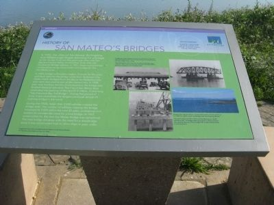 History of San Mateo's Bridges Marker image. Click for full size.