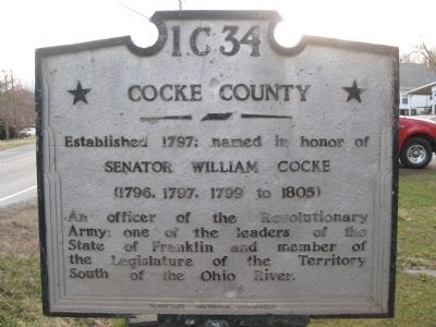 Jefferson County / Cocke County Marker image. Click for full size.