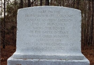 The Horsheshoe Bend Battlefield Marker image. Click for full size.