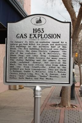 1953 Gas Explosion Marker Photo, Click for full size