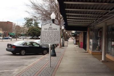 1953 Gas Explosion Marker along Laurens Street Photo, Click for full size