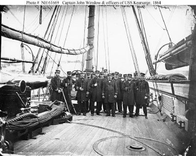 Capt. John Winslow & officers of USS <i>Kearsarge</i> Photo, Click for full size
