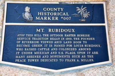 County Historical Marker #007 Plaque image. Click for full size.