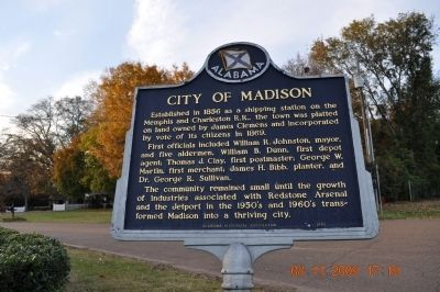 City of Madison Marker image. Click for full size.
