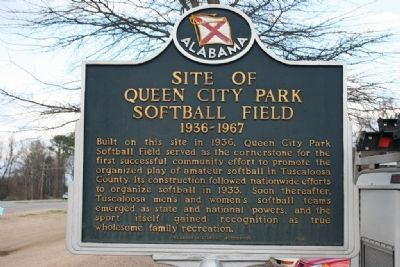 Site of Queen City Park Softball Field Marker image. Click for full size.