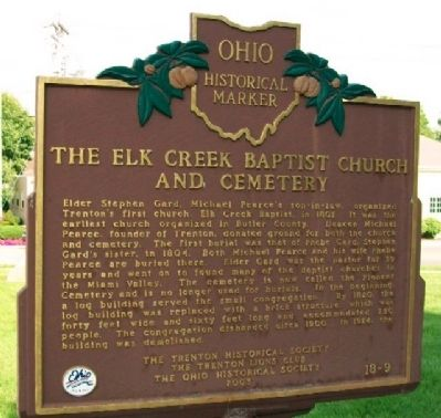 The Elk Creek Baptist Church and Cemetery Marker (Side B) image. Click for full size.