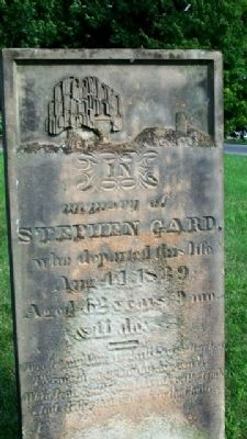 Stephen Gard Grave Marker image. Click for full size.