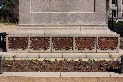 Wade Hampton west face lower plaques image. Click for full size.