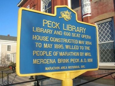 Peck Library Marker image. Click for full size.