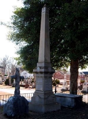 Governor Benjamin Perry (1805-1886) Tombstone (center) image. Click for full size.