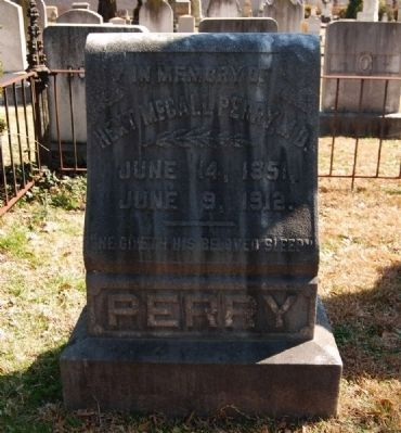 Dr. Hext McCall Perry (1851-1912) Tombstone image. Click for full size.