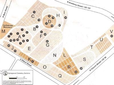 Map of Springwood Cemetery Photo, Click for full size