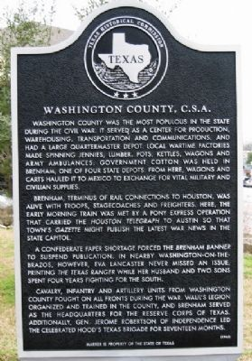 Washington County C. S. A. Marker image. Click for full size.