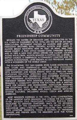 Friendship Community Marker image. Click for full size.