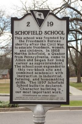 Schofield School Marker image. Click for full size.