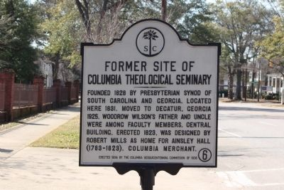 Former Site of Columbia Theological Seminary Marker image. Click for full size.