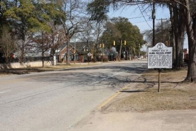 Former Site of Columbia Theological Seminary Marker, looking east along Blanding Street image. Click for full size.