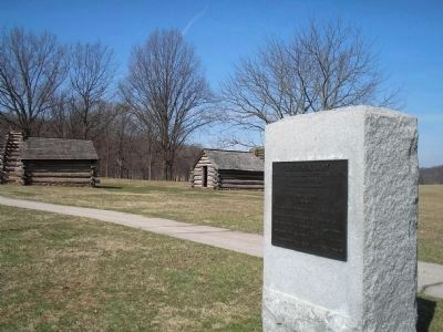 Marker in Valley Forge Photo, Click for full size